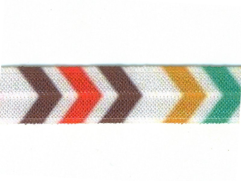 FOE -nauha 15mm, chevron monivärinen