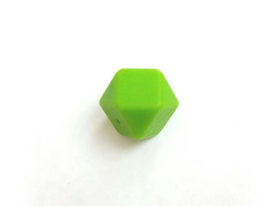 17mm hexagon silikonihelmi, lime