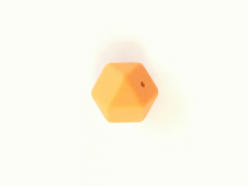 17mm hexagon silikonihelmi, mango