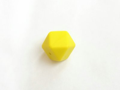 17mm hexagon silikonihelmi, sitruuna