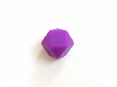 17mm hexagon silikonihelmi, violetti