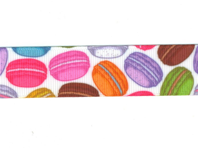 Grosgrain -nauha 22mm, macaronit